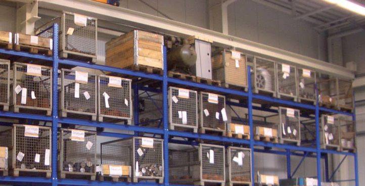 Mehrplatzregalsystem geschweißt (Fachlast bis 4.500kg)