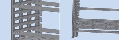 Blechlagerturm zur Staplerbedienung
